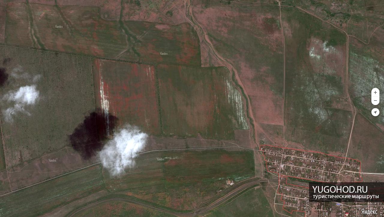 Маковые поля на снимке со спутника