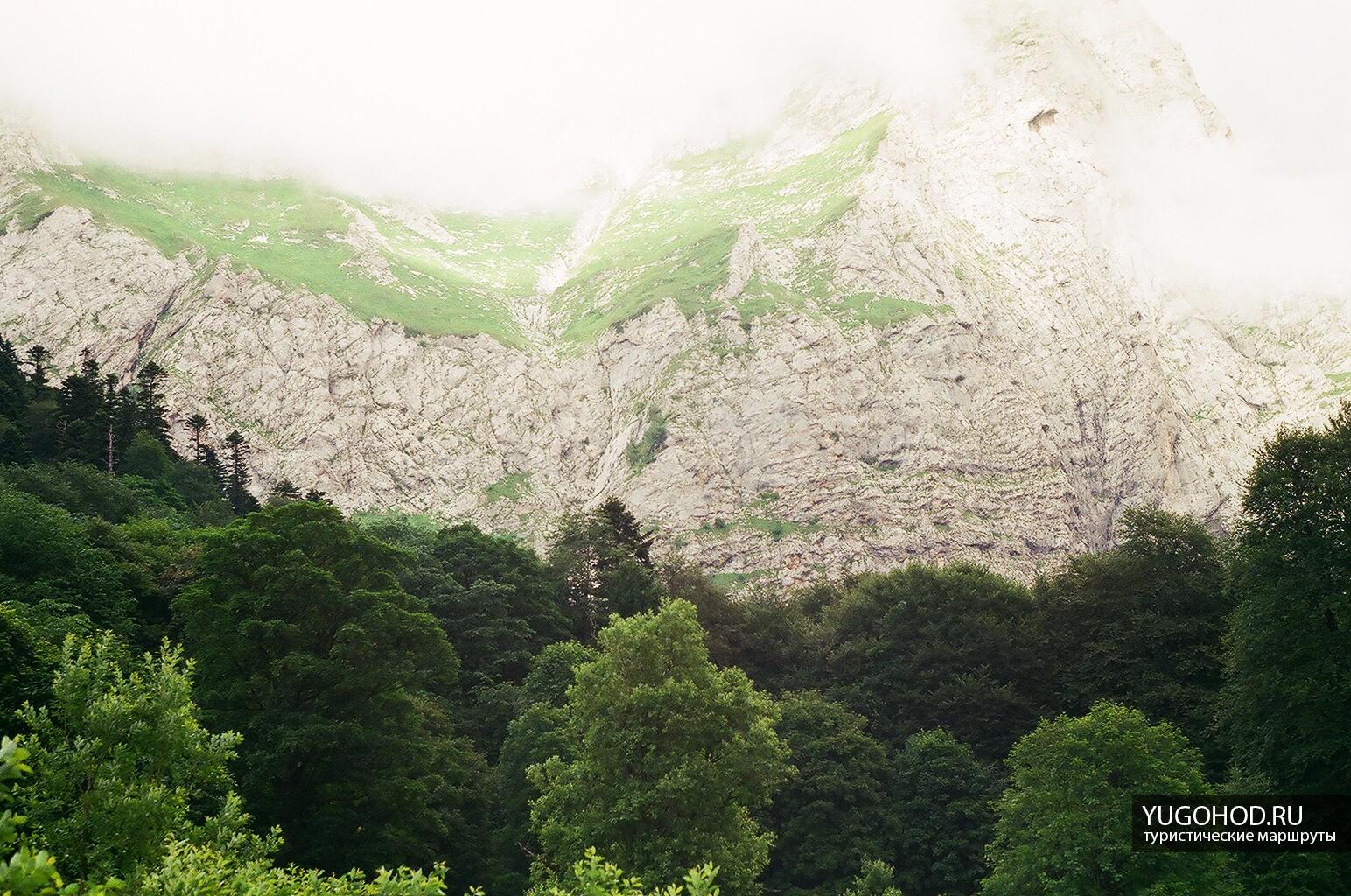 Пшехский водопад на пленку