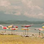 Абхазия: Пицунда, центральный пляж