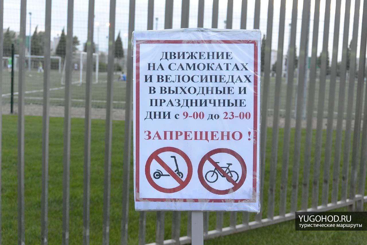 Движение на самокатах и велосипедах в выходные и праздничные дни с 9:00 до 23:00 запрещено