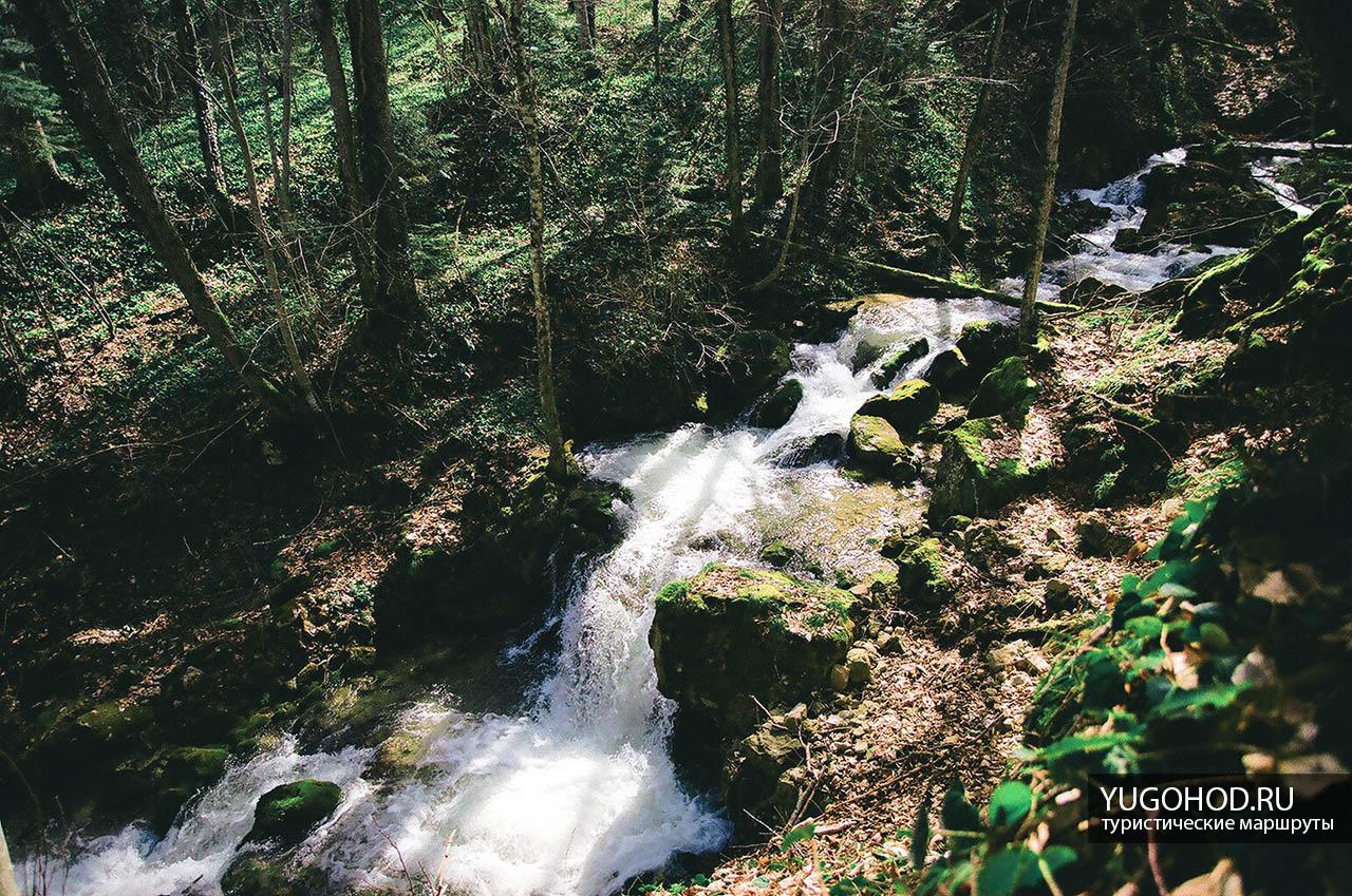 К водопаду вдоль реки