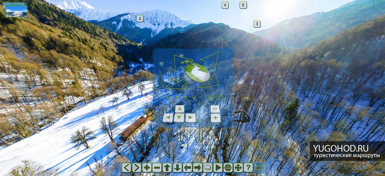 3D тур по Кавказскому заповеднику