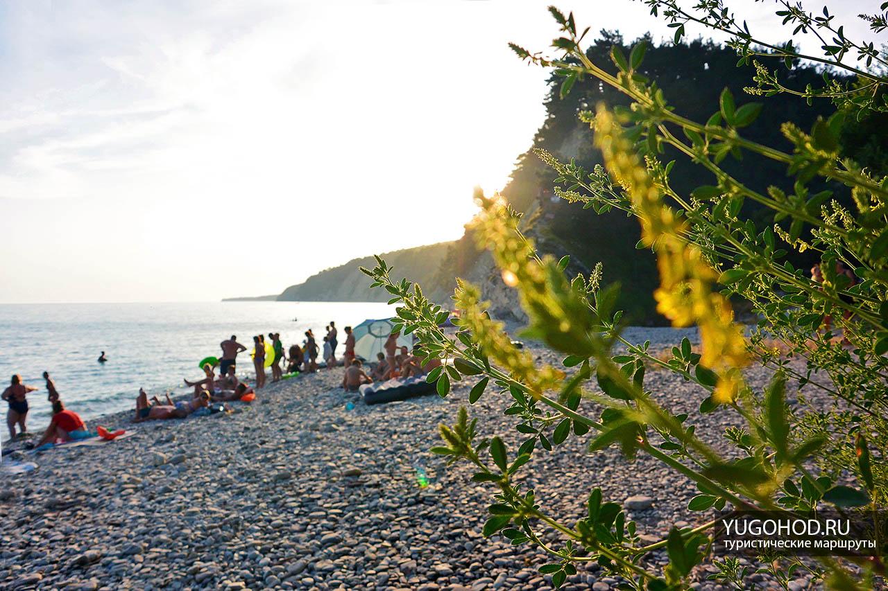 Кемпинг Енот, пляж