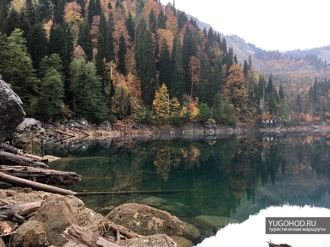 Фото озера Малая Рица