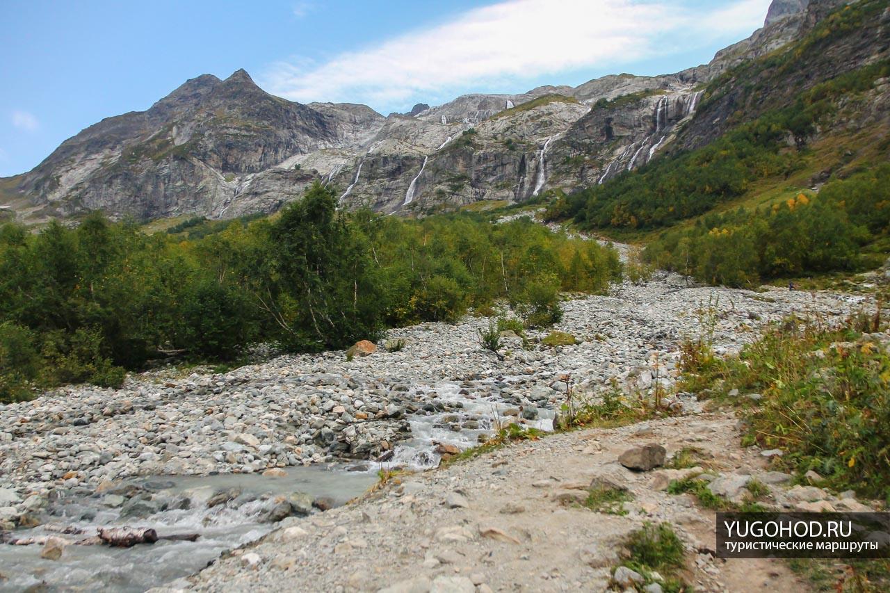 дорога на Софийские водопады